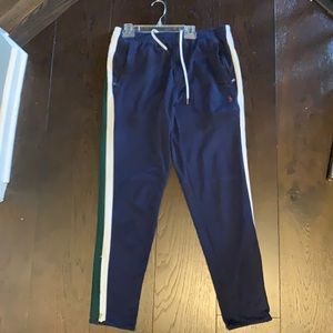 Men's Polo Jogger with Zip Ankle & Drawstring - M